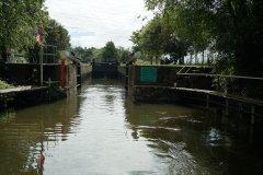 Chadbury lock - looking upstream